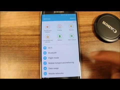 S7: How To Setup Tethering - Mobile Hotspot - Samsung Galaxy S7 / Edge