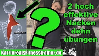 2 hocheffektive Dehnübungen für den Nacken gegen Verspannungen und Schmerzen