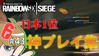 【R6S】日本1位が魅せる神プレイ集(カジュアルなし)!! ウォッカのレインボーシックスシージ実況#43 thumbnail