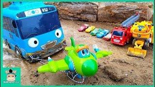 Tayo小さなバスレスキュースーパーウイングのおもちゃロボットCar3、ゴーゴーディノ恐竜ロボット登場|マリアンドー