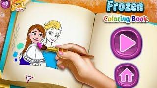 NEW мультик онлайн для девочек—Холодное сердце раскраска—Игры для детей