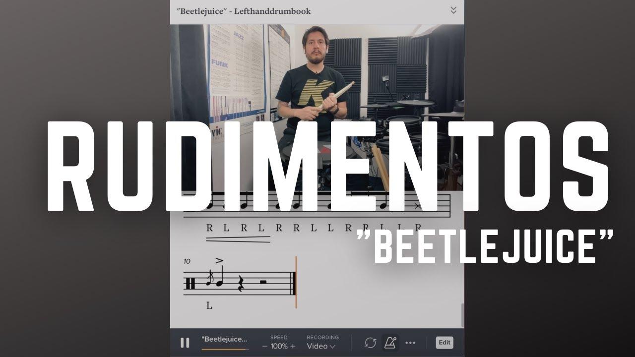 "Rudimentos – ""Beetlejuice"" – LeftHandDrumBook!!! #Shorts"