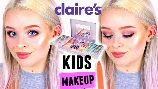 One of sophdoesnails's most viewed videos: FULL FACE USING ONLY KIDS/CLAIRE'S MAKEUP! | sophdoesnails