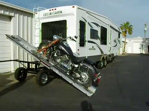 Rv Suv Carrier With Motorcycle Loader Youtube
