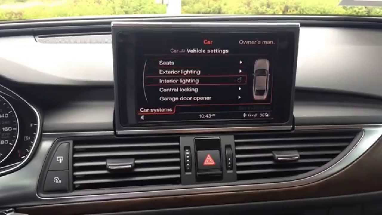 Change Audi A6 S6 Door Unlock From Single To All Using The Advanced Key Youtube