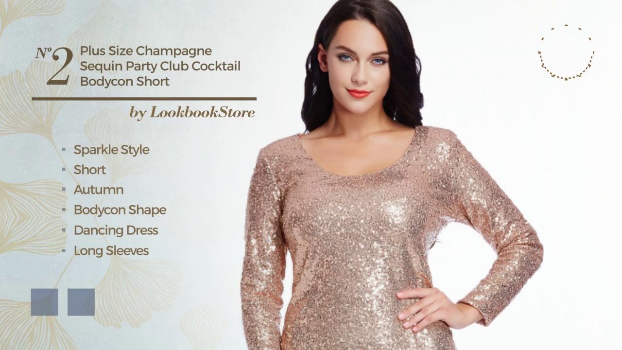 Top Exquisite Sequin Plus Size Dresses Amazon Fashion 2017 Youtube