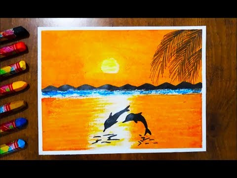 Pastel Boya Calismasi How To Paint A Scenery Of Sunset With Oil