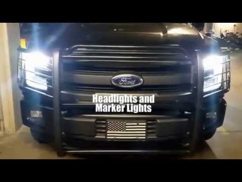 2015 F150 Halogen To Led Headlight Conversion Youtube