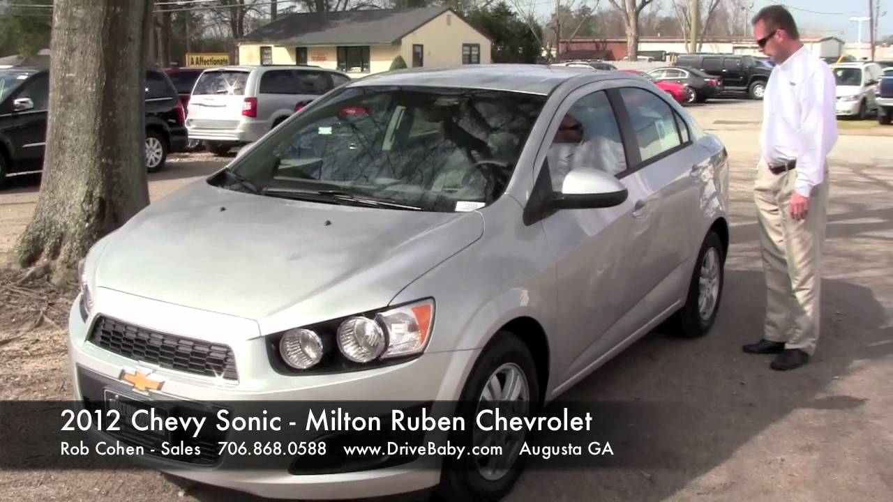 2012 Chevy Sonic Features And Test Drive Milton Ruben Chevrolet Augusta Chevrolet