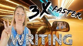 How to Write 3X Faster - Non-Fiction Book Writing Tips