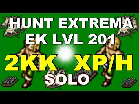 Tibia Ek lvl 201 Hunt BARKLESS (2kk/h) Ab