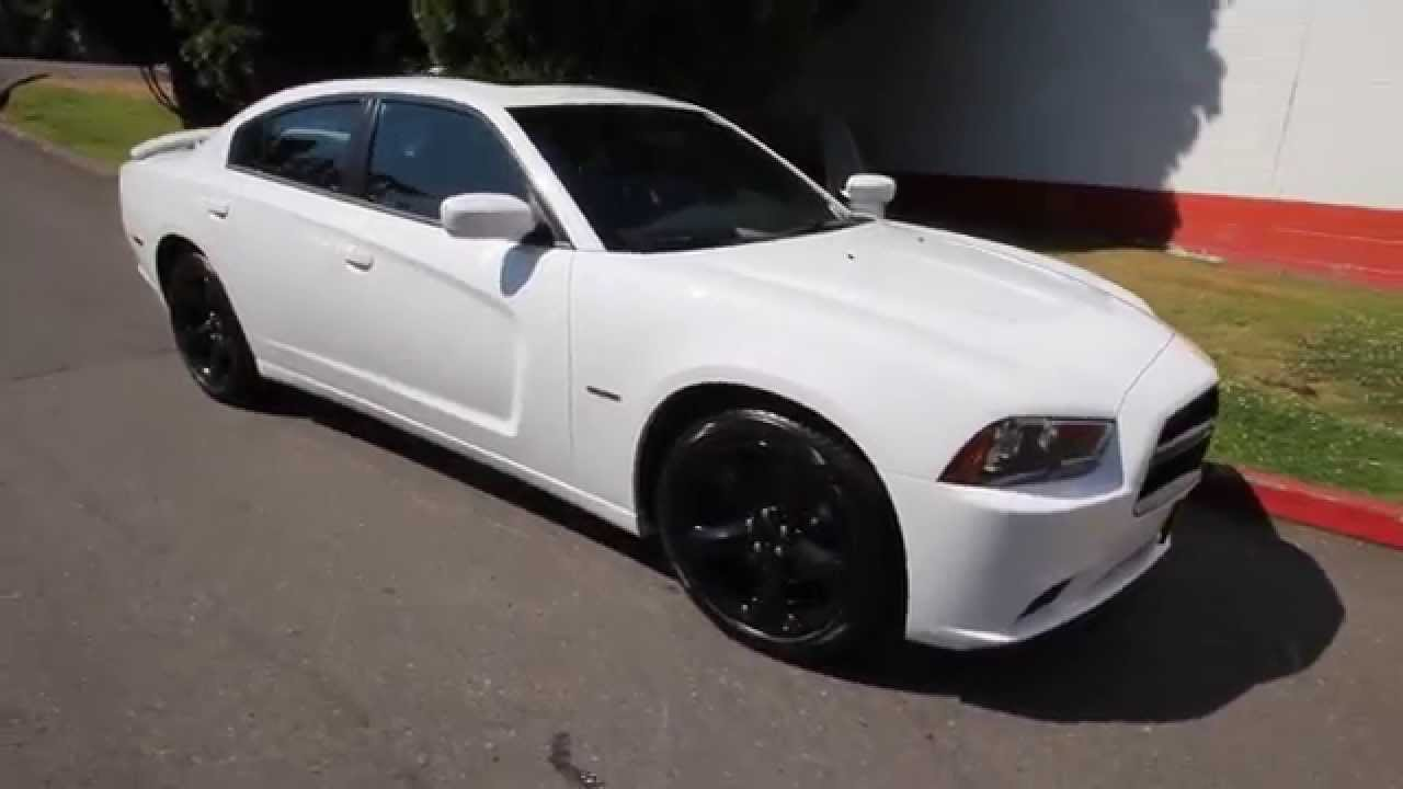 2014 dodge charger rt white eh323617 seattle bellevue - Dodge Charger 2013 White Black Rims