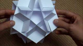 sliceform - papercraft - pentagons (George Hart) - tutorial - dutchpapergirl