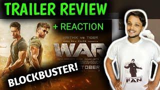 WAR Trailer Review + Reaction | Hrithik Roshan | Tiger | YRF | Kiss Miss STUDIO