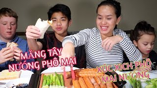 Gambar cover Vlog 230 || ĂN XÚC XÍCH PHÔ MAI VÀ MĂNG TÂY NƯỚNG PHÔ MAI(Sausages & Roast asparagus grilled cheese)