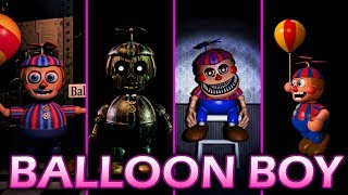 Evolution of Balloon Boy in FNAF 2014 2017