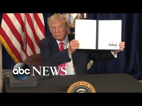 Trump takes executive action to address economy amid pandemic