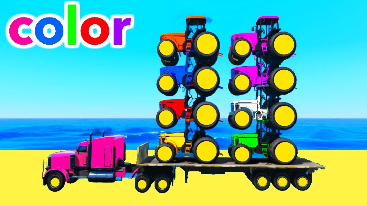 Couleurs tracteurs sur camion w super h ros dessin anim pour enfants comptine youtube - Dessin anime avec tracteur ...