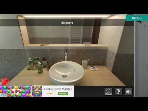 Escape Room Bathroom Level 1 real escape app game - level 1 walkthrough - youtube