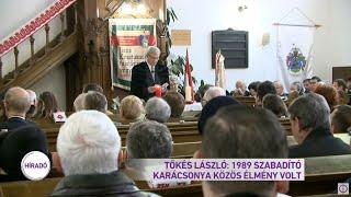 Tőkés László: 1989 szabadító karácsonya közös élmény volt