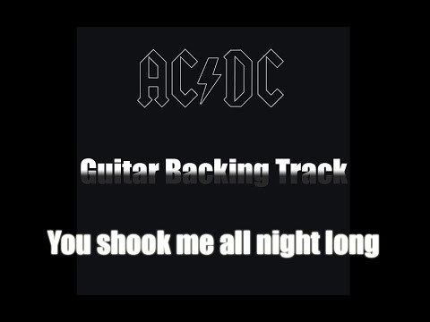 ACDC - You shook me all night long - Guitar Backing Track (HQ with Vocals!!!)