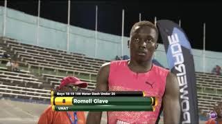 2018 Jamaica u20 100m final