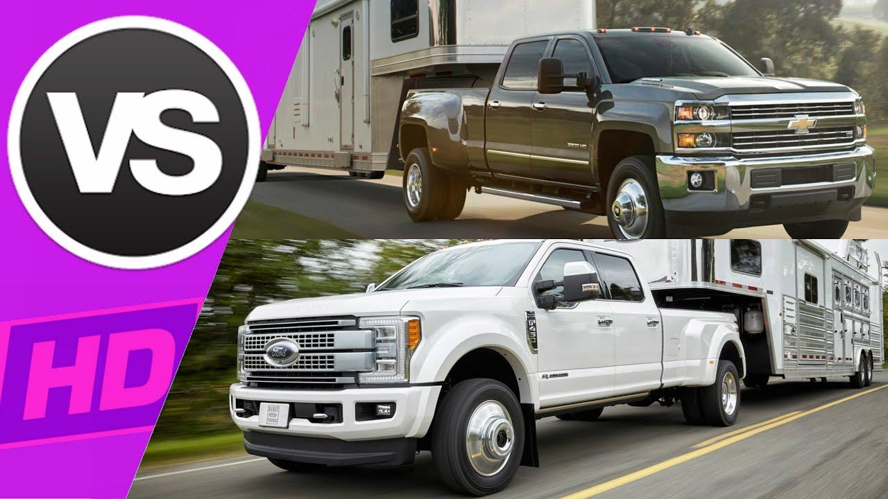 2017 Ford Super Duty vs 2017 Chevy Heavy Duty