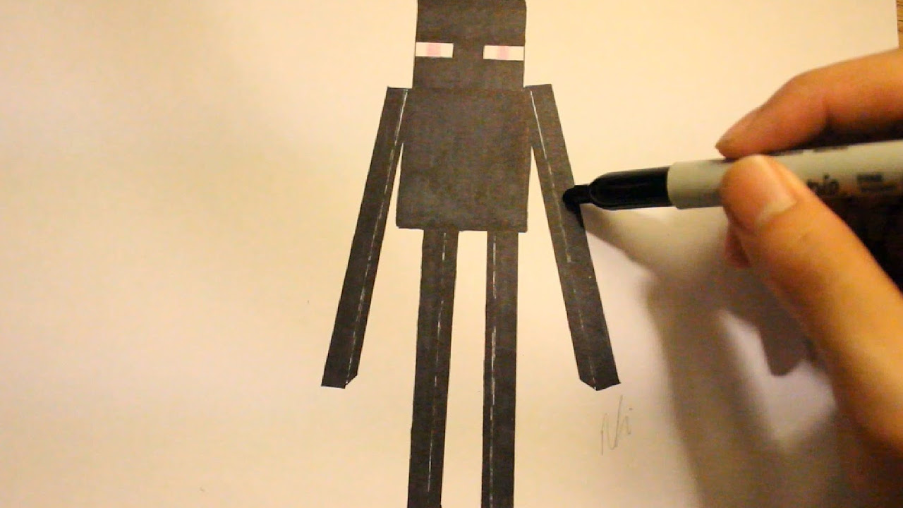 How To Draw Enderman From Minecraft|Step By Step|Minecraft Drawings and Minecraft Character Enderman