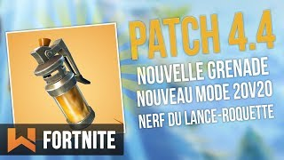 "🔥 PATCH 4.4: GRENADE GAZ, MODE ""CONFRONTATION"", NERF ROQUETTES Fortnite Battle Royale"