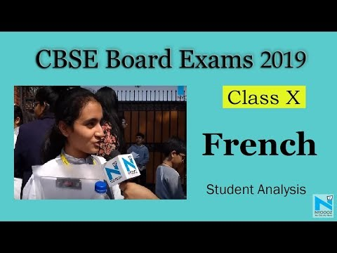 CBSE Class 10 Board Exam 2019: French Language Paper