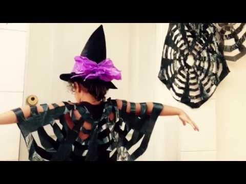 Halloween Disfraz Superguay Telarana Bolsa Basura Diy Youtube - Disfraz-de-araa-casero