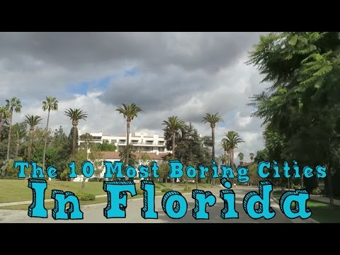 Wingnut - We Aren't Among The 10 Boring Cities In Florida!