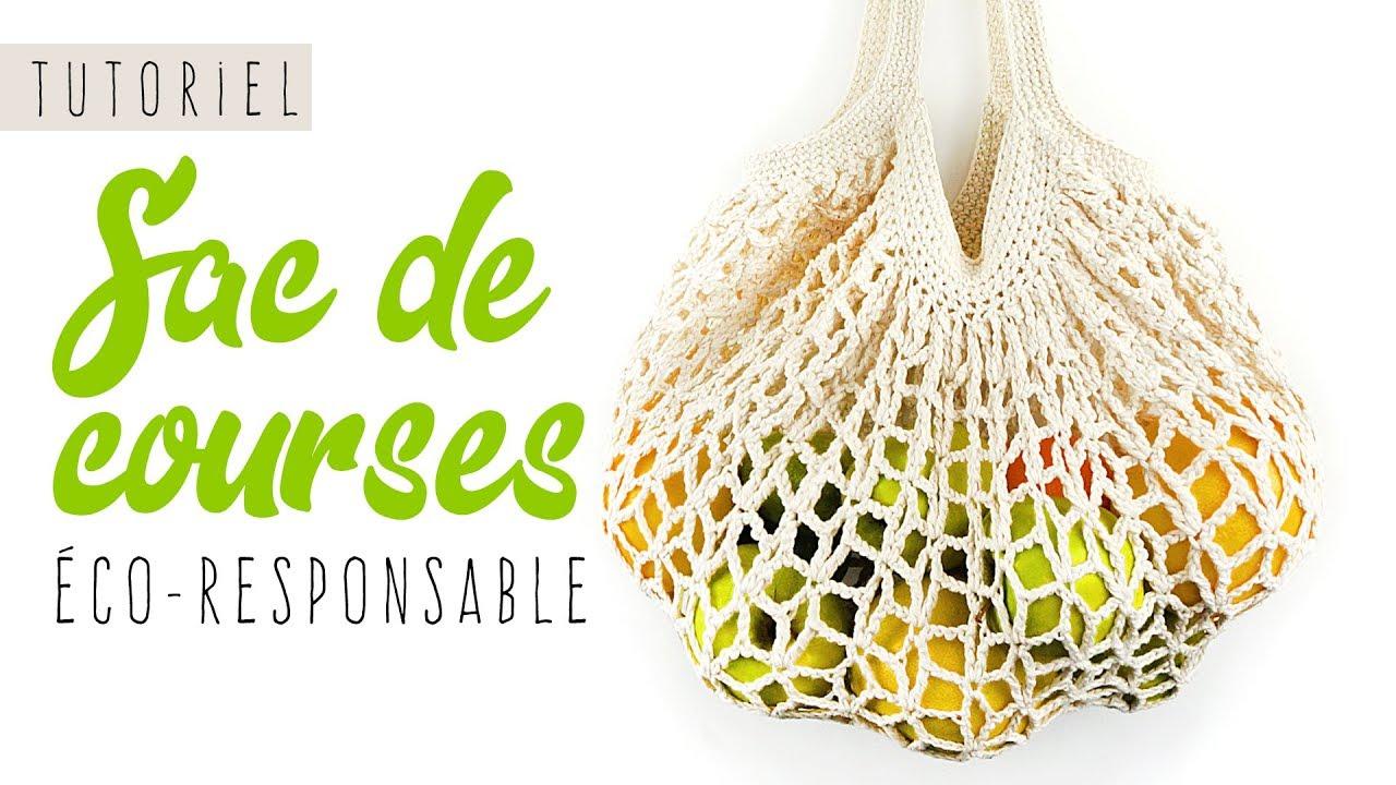 TUTO comment faire un sac de courses eco responsable crochet