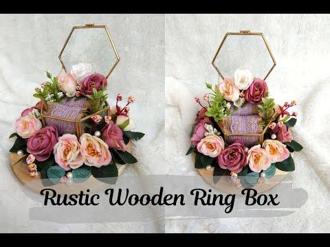 Kotak Cincin Rustic Inspirasi | Rustic Wooden Ring Box Inspiration - YouTube
