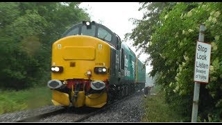 (HD) Thrash & Horns 37423 2Z02, Caroline on the Malverns Line, Ealing - Reading via Hereford