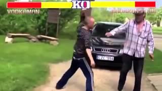 Пьяная драка в стиле Street Fighter