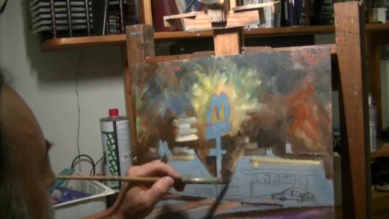 Dipingere ad olio paesaggio in notturna youtube for Quadri da copiare