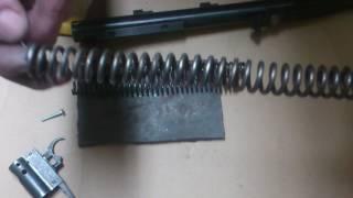 Пневматическая винтовка МР-512. Замена пружины.