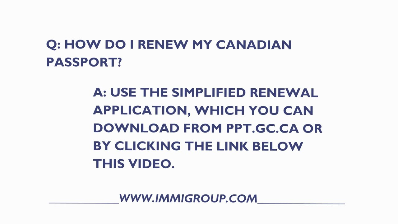 How can i renew my canadian passport youtube falaconquin