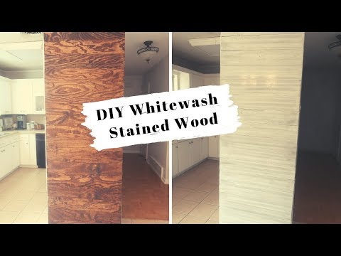 DIY WHITEWASH STAINED WOOD: SHIPLAP WALL
