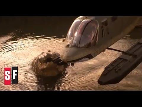 Crocodile vs. Helicopter  Lake Placid 1999