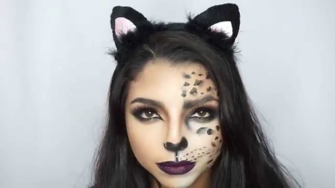Awesome How To: Cheetah/Cat Halloween Makeup