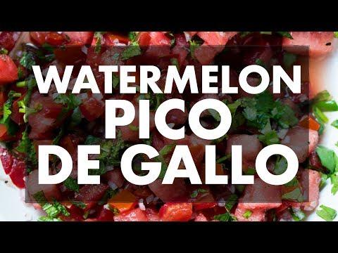 Watermelon Pico de Gallo   REC TEC Grills