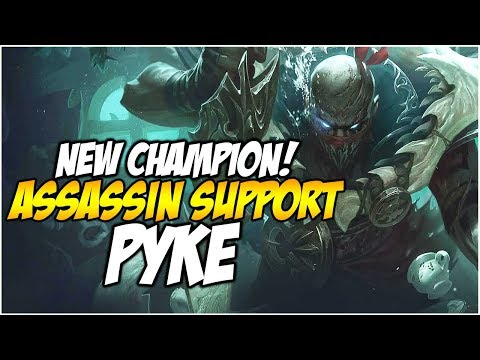 PYKE, NEW ASSASSIN SUPPORT! FIRST IMPRESSIONS | League of Legends thumbnail