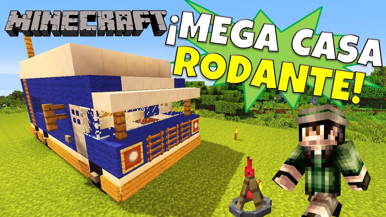 Minecraft como hacer una casa rodante super tutorial for Casa moderna rey zerch