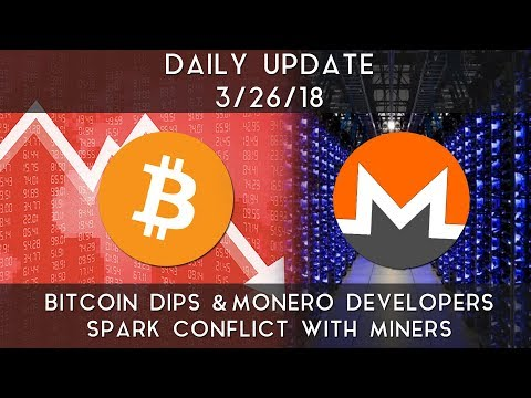 Daily Update (3/26/2018) | Bitcoin slips lower and conflicts hit Monero