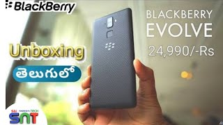 BlackBerry Evolve Hands On Review in Telugu | BlackBerry Evolve Specifications | Sai Nagendra