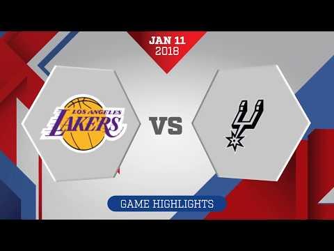 San Antonio Spurs vs. Los Angeles Lakers - January 11, 2018