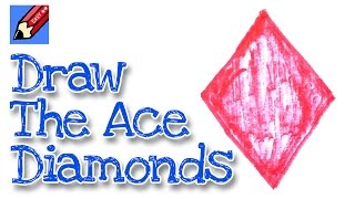 How to draw the Ace of Diamonds real easy - for kids and beginners