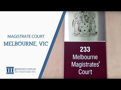Melbourne Magistrates Court I Go To Court Lawyers | Melbourne VIC